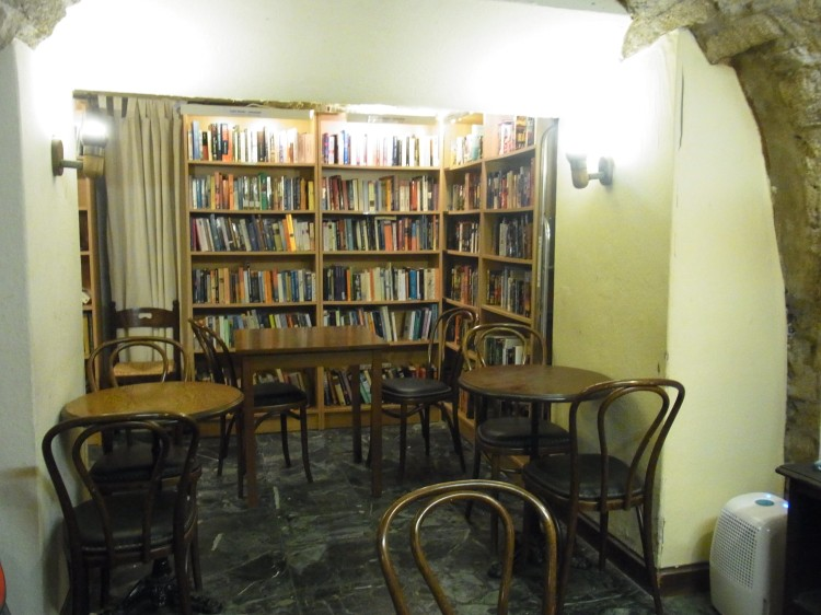 Chairs and tables, to rest and chill out with a book, or sit across someone and talk about a story that left a mark.
