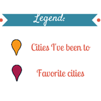 Legend-map-travel
