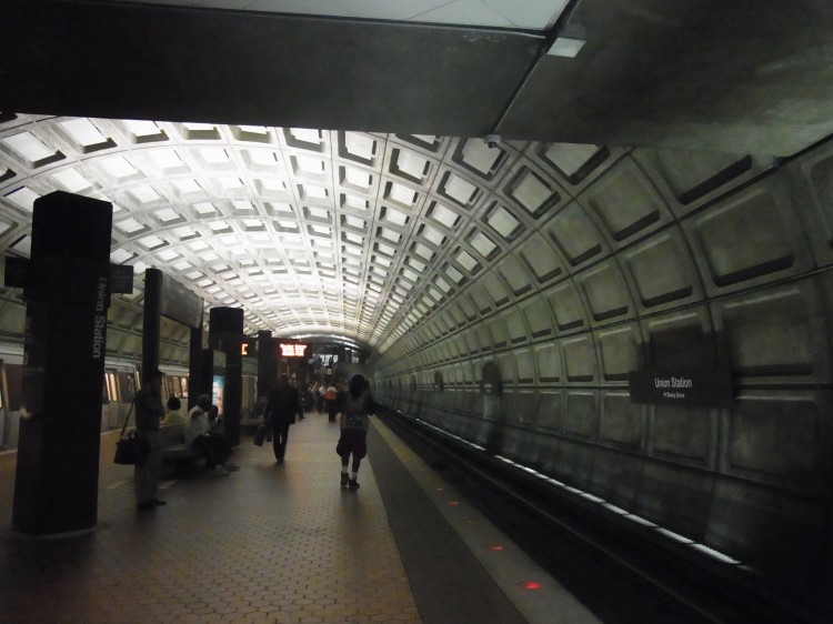 A subway station in Washington DC