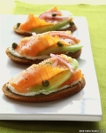 Salmon toasts, picture from pinterest